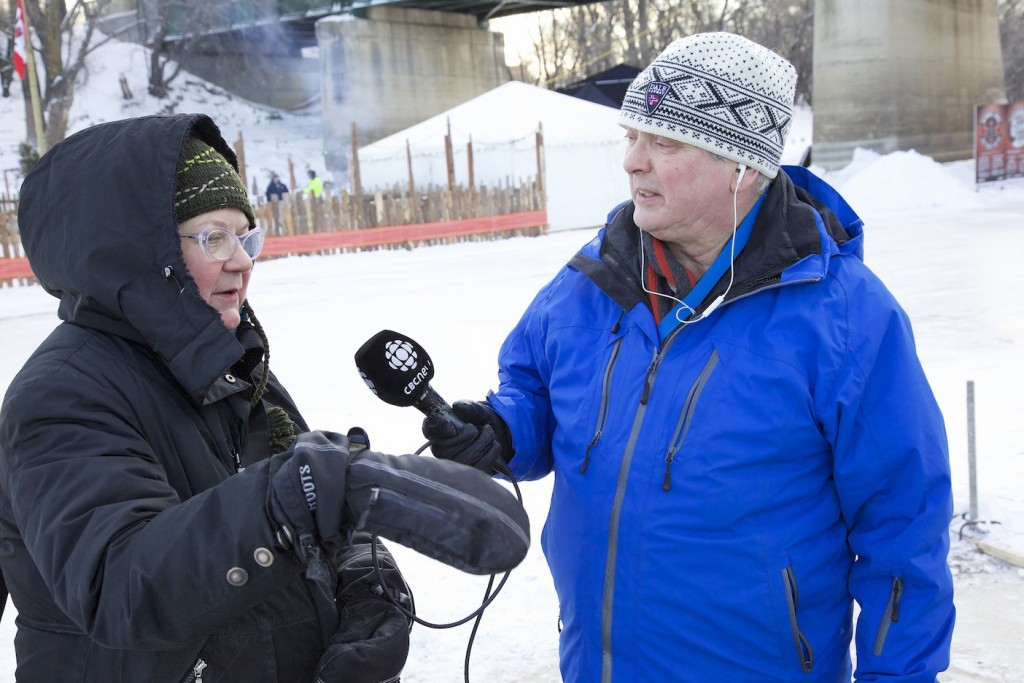 Terry McLeod of CBC radio speaking with Elvira Finnigan, February 13, 2015
